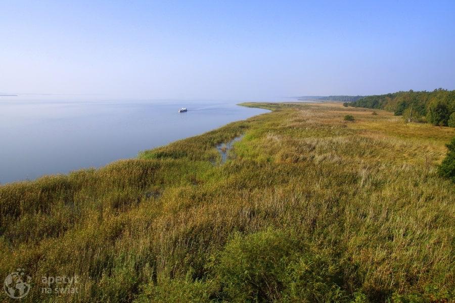Barwy jesieni - Słowiński Park Narodowy, Jezioro Łebsko