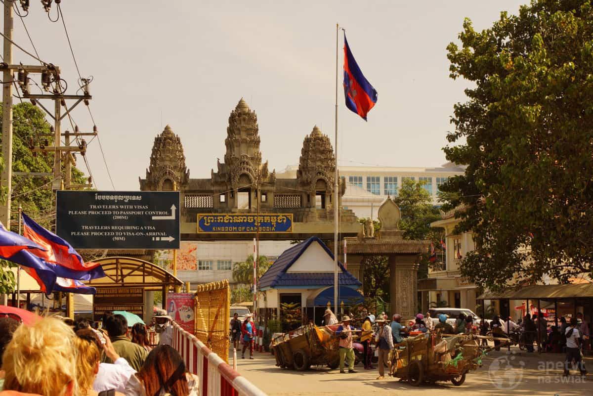 Granica Tajlandii z Kambodżą w Poipet