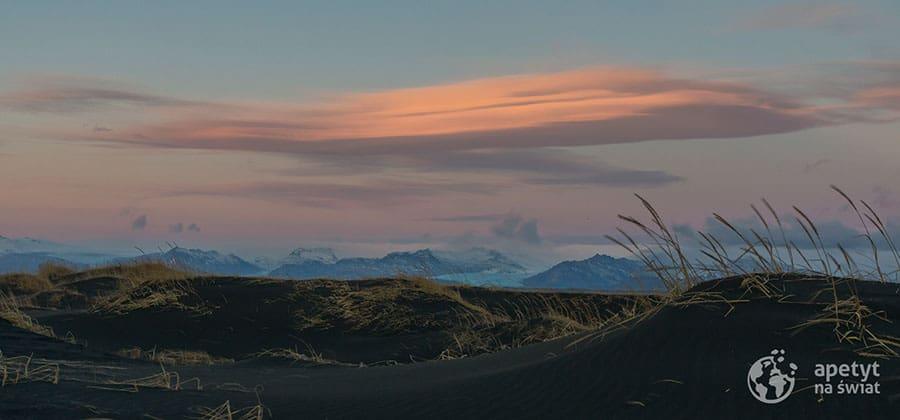 Islandia czarne wydmy