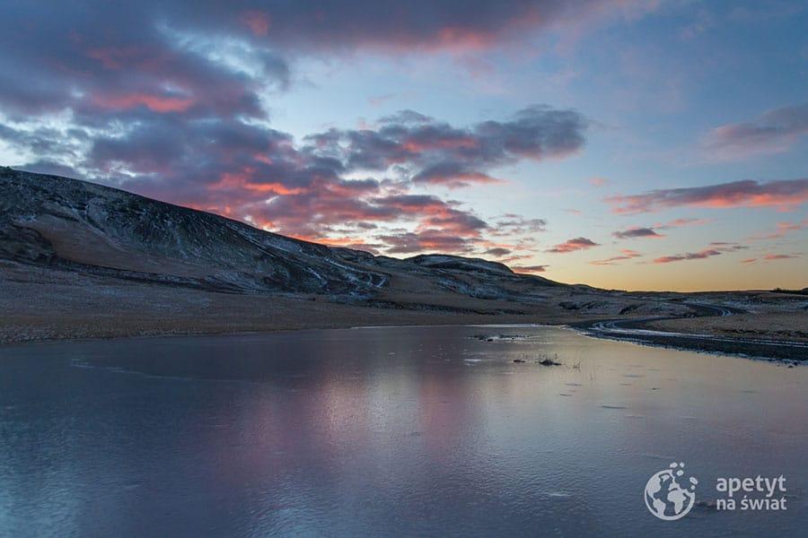 Islandia, wschód słońca