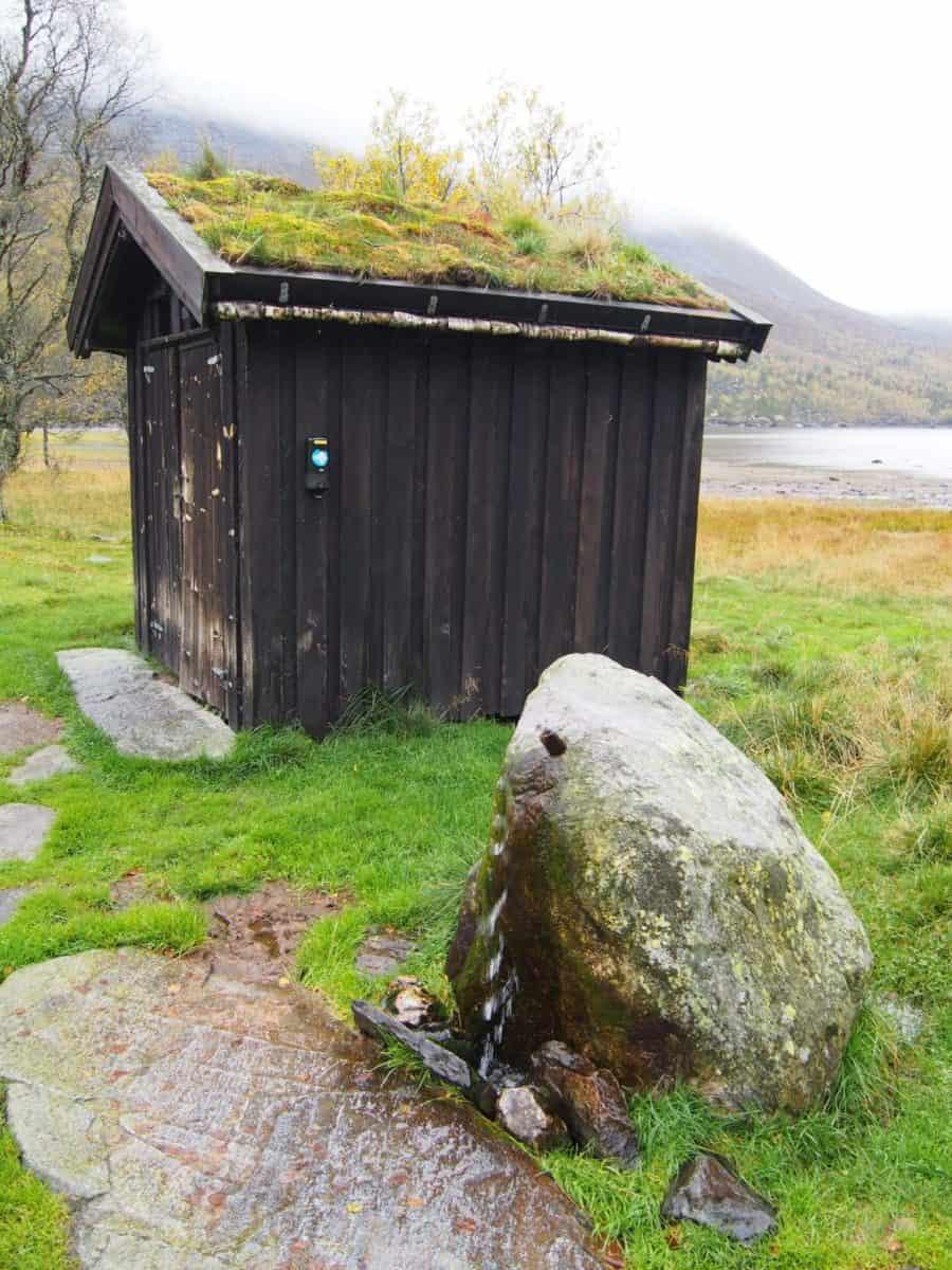 Latryna w norweskich górach