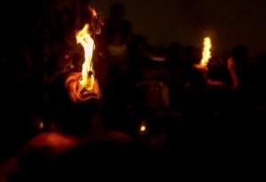 Pokaz ognia w Kandy
