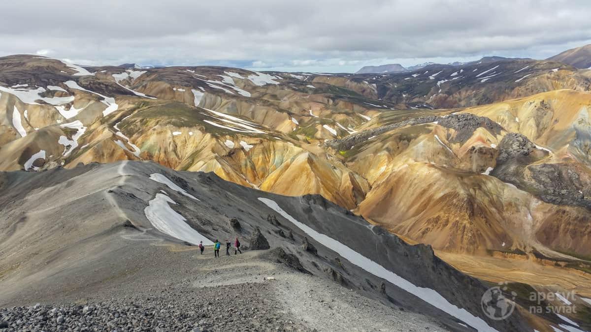 Islandia - Góry Kolorowe - Landmannalaugar