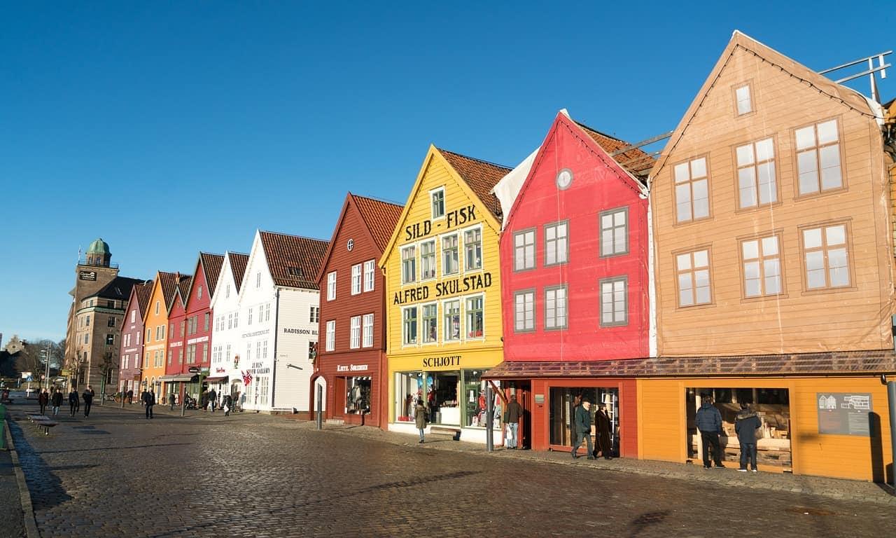 Bergen Brygge - kolorowe domki