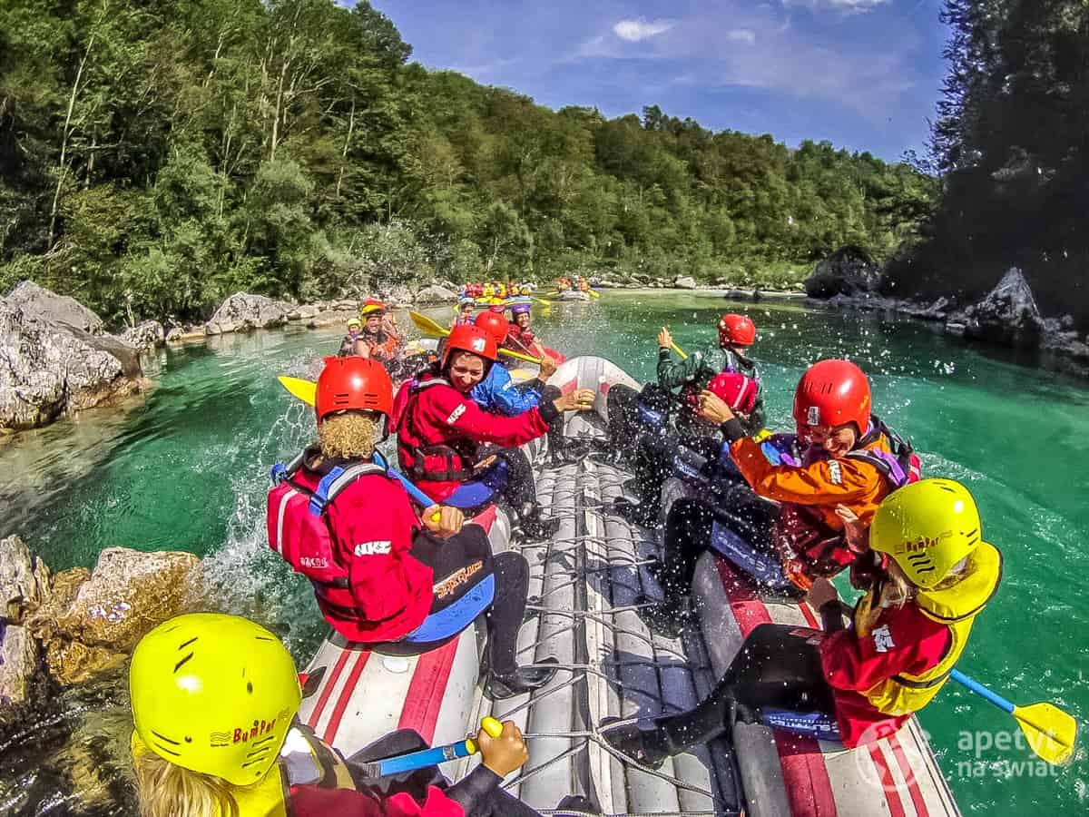 Rafting na rzece Soca