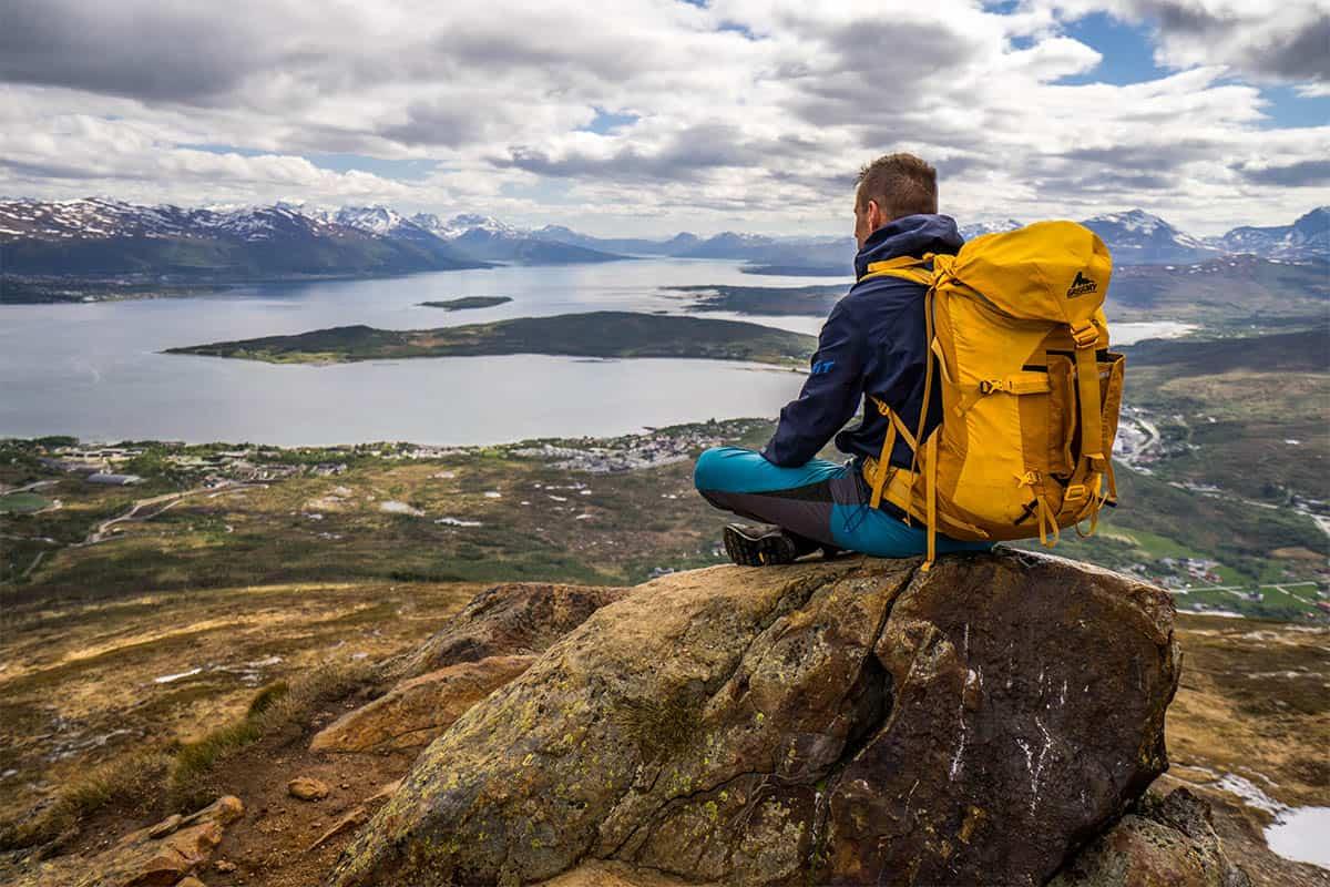 Rodtind w okolicach Tromso - widok ze szczytu