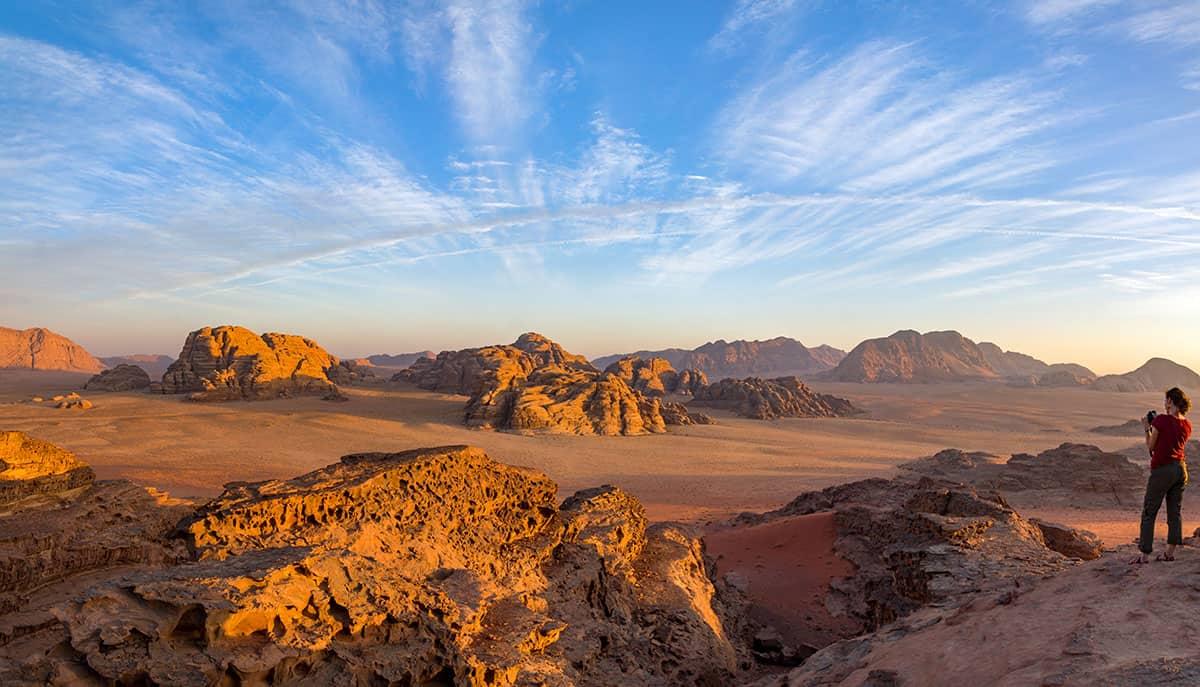 Pustynia Wadi Rum w Jordanii
