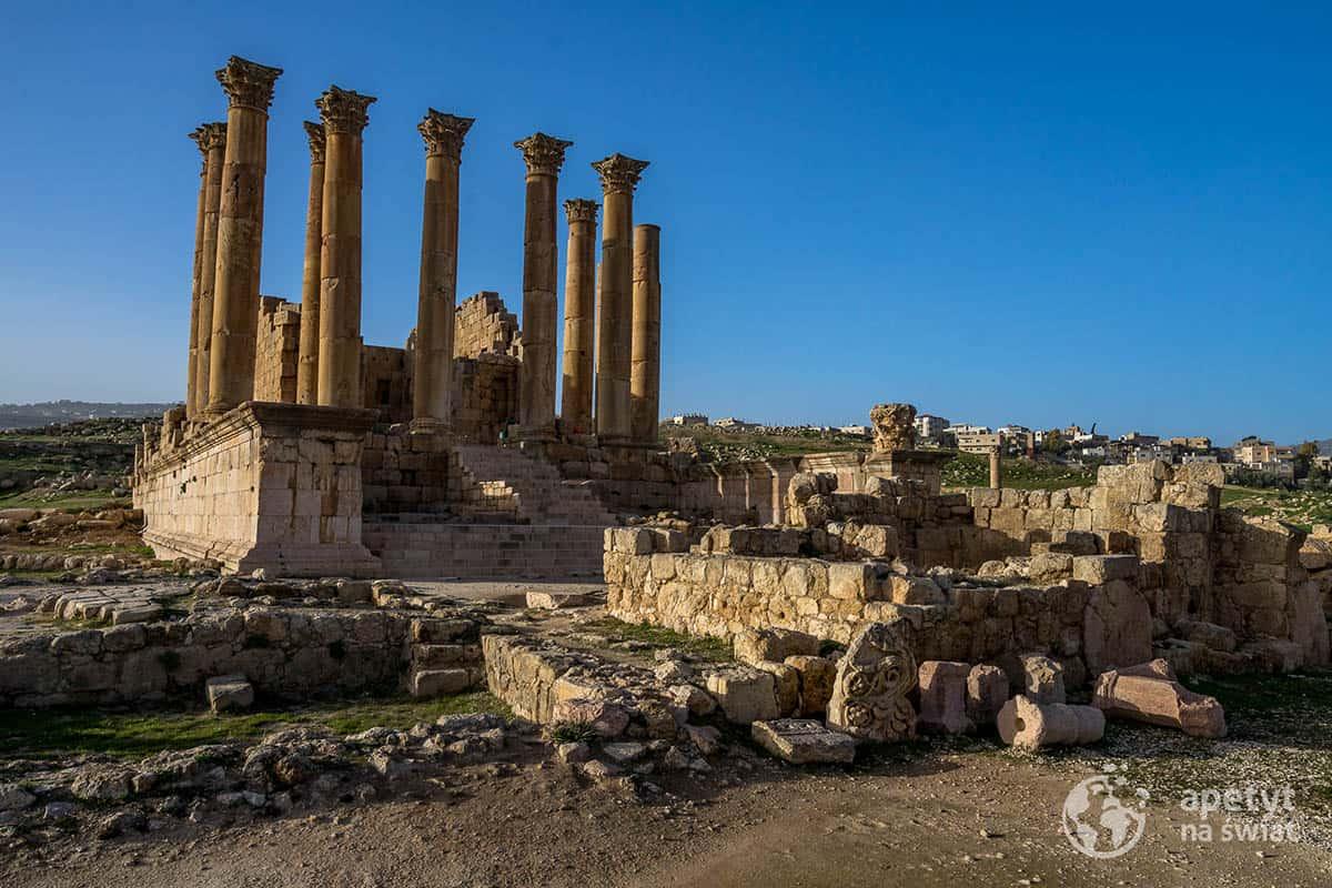 Ruiny świątyni Artemidy wJerash