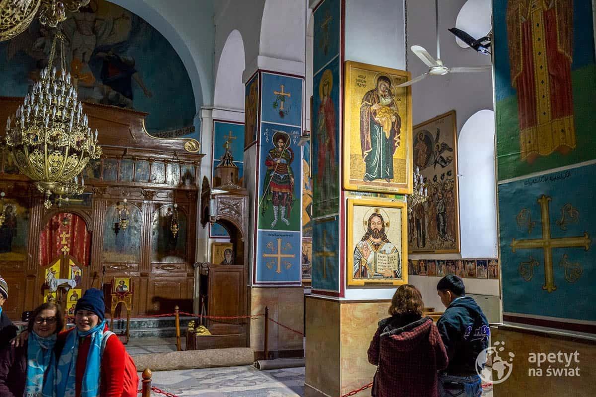Wnętrze cerkwi św.Jerzego wMadabie