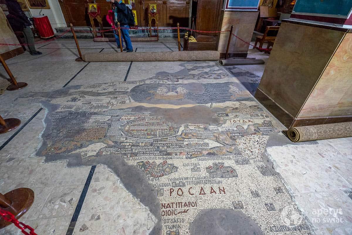 Madaba - mozaikowa mapa Ziemi Świętej