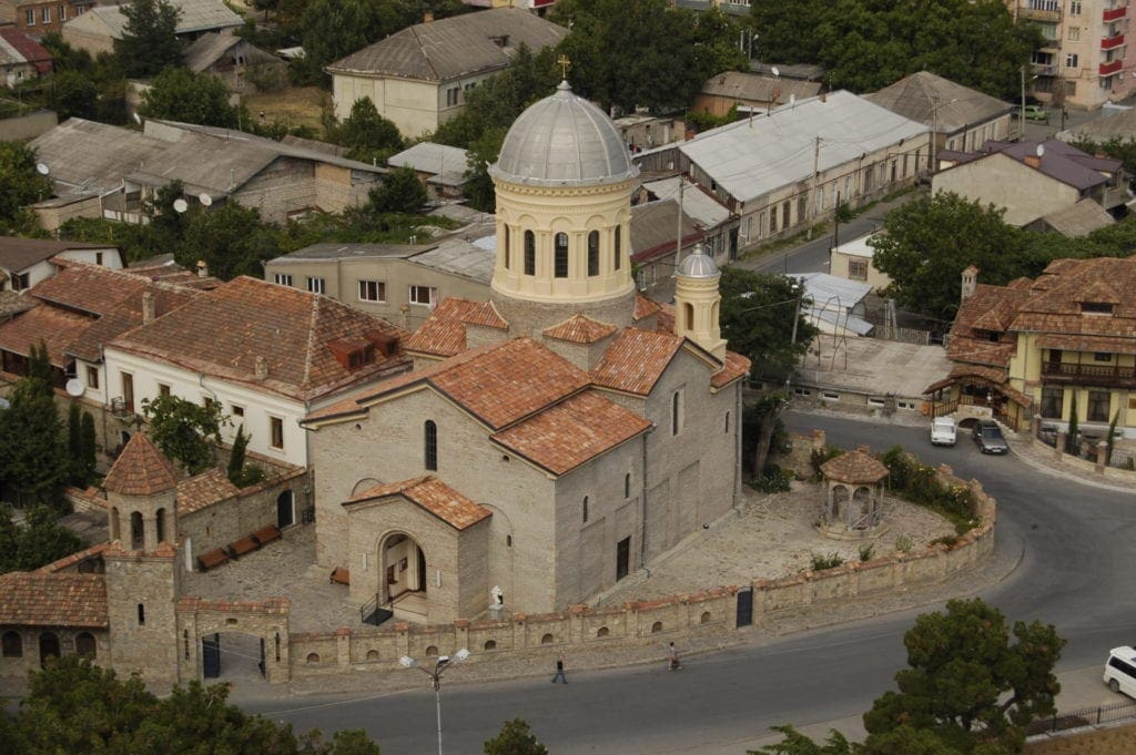 Widok z lotu ptaka na miasto Gori