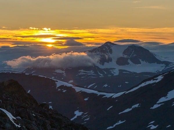 Zachód słońca Kungsleden