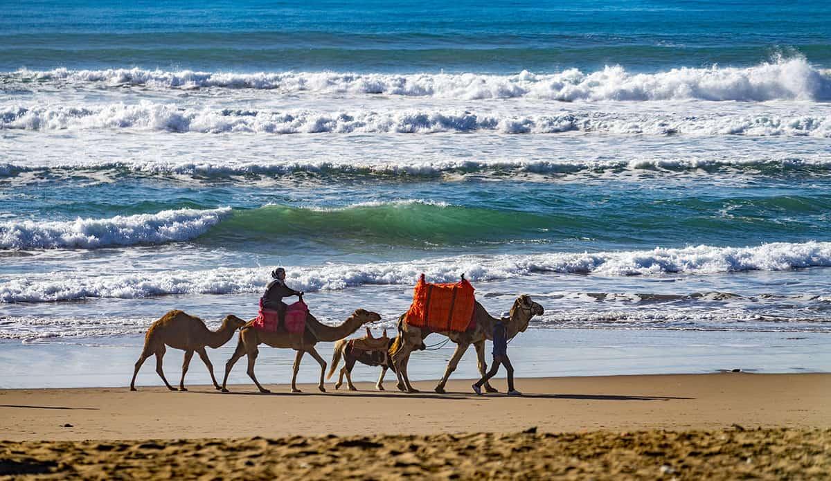 Maroko - brzeg morza