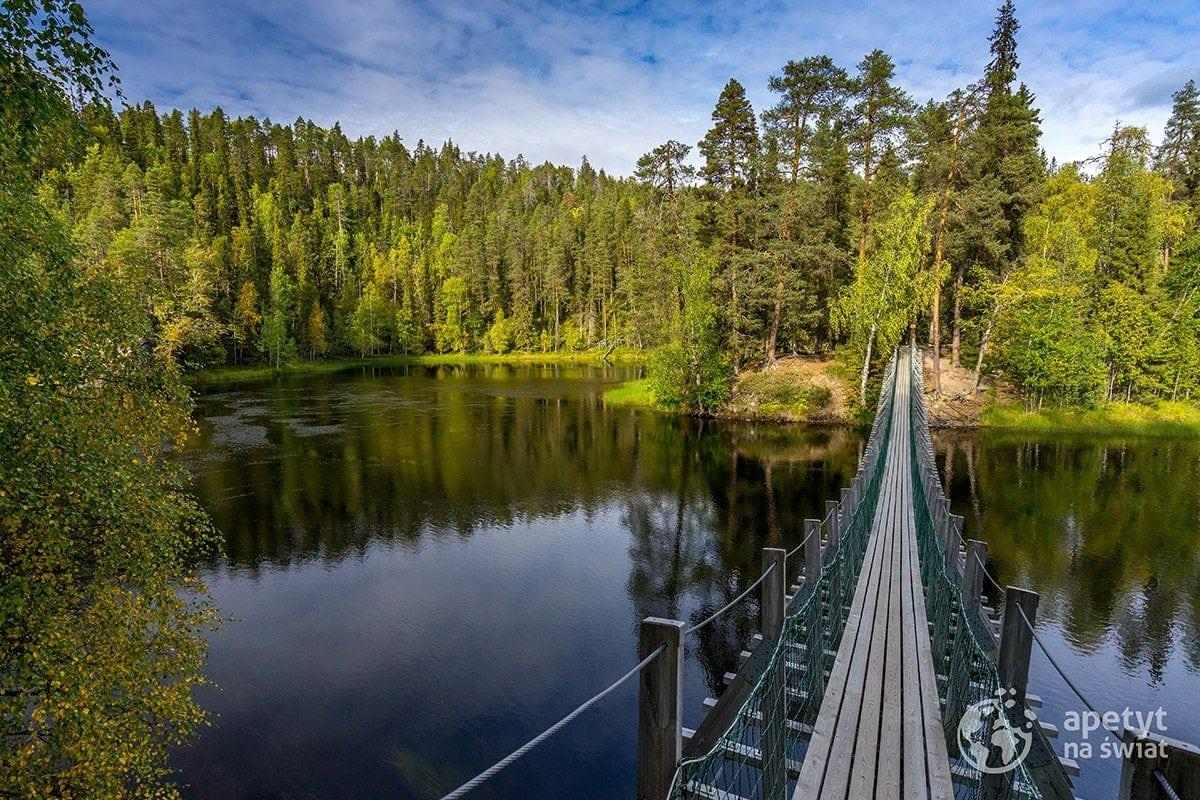 Szlak Karhunkierros, Oulanka, wiszący most