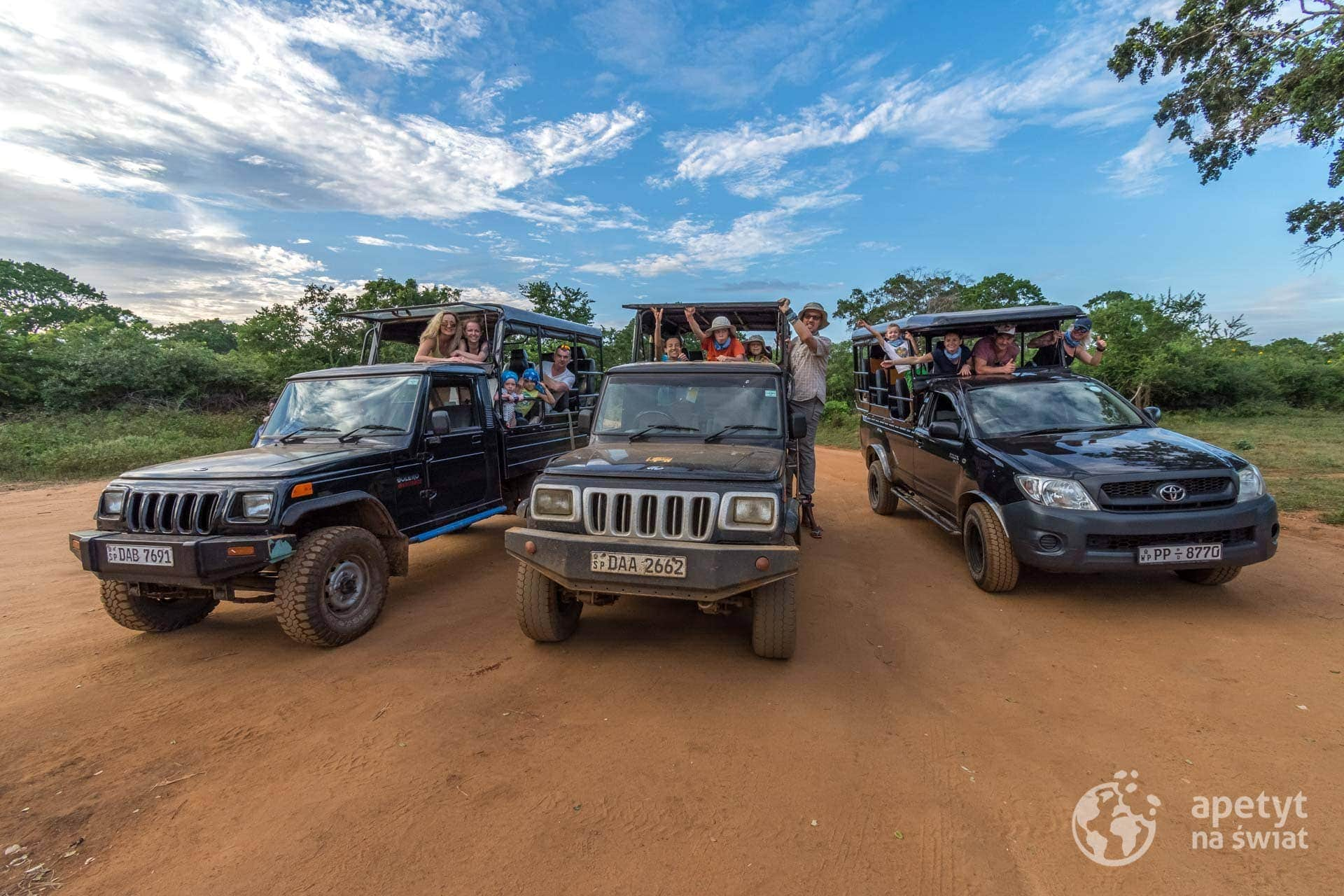 Jeep safari wParku Narodowym Yala naSri Lance