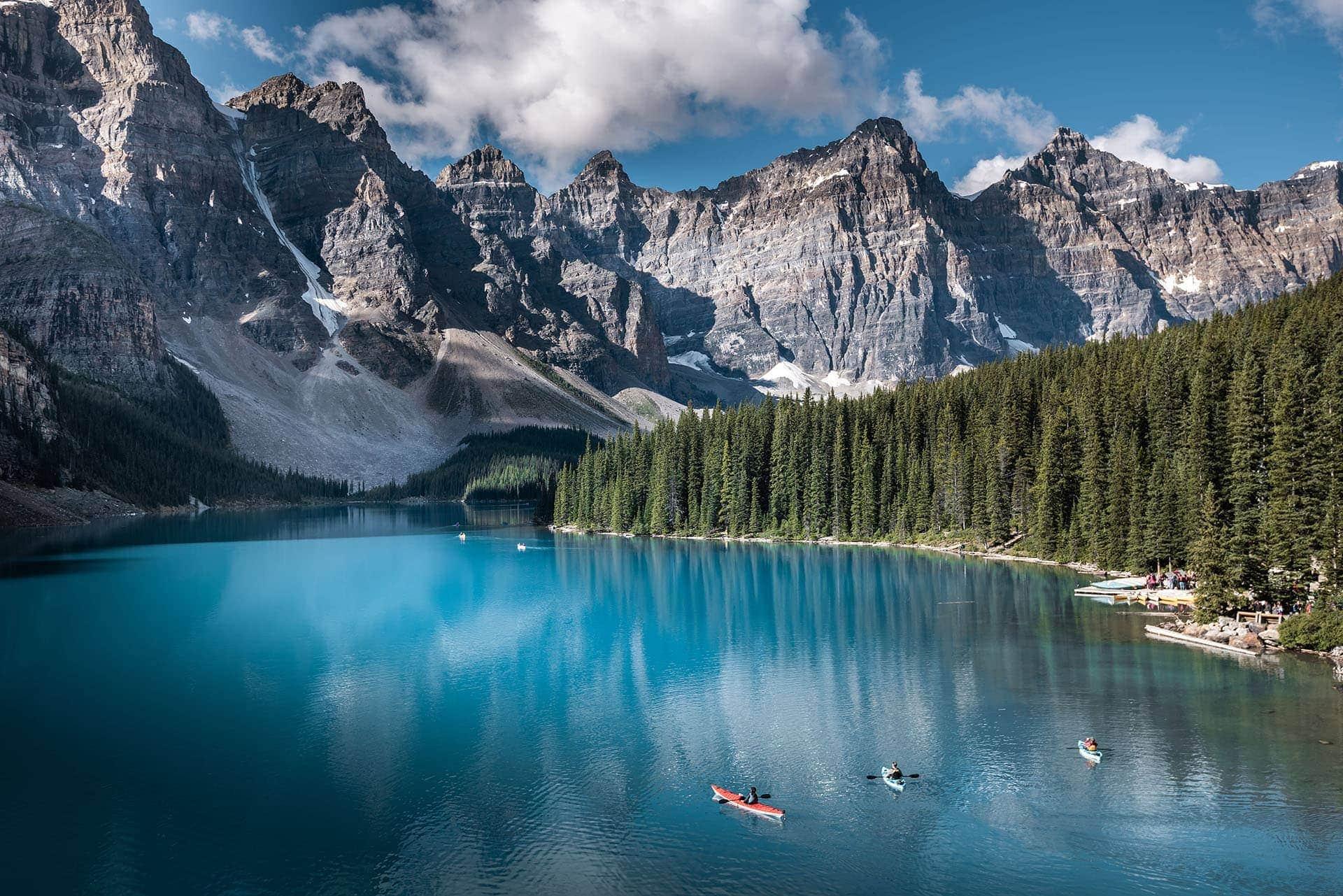 Jezioro Moraine, Park Narodowy Banff wKanadzie