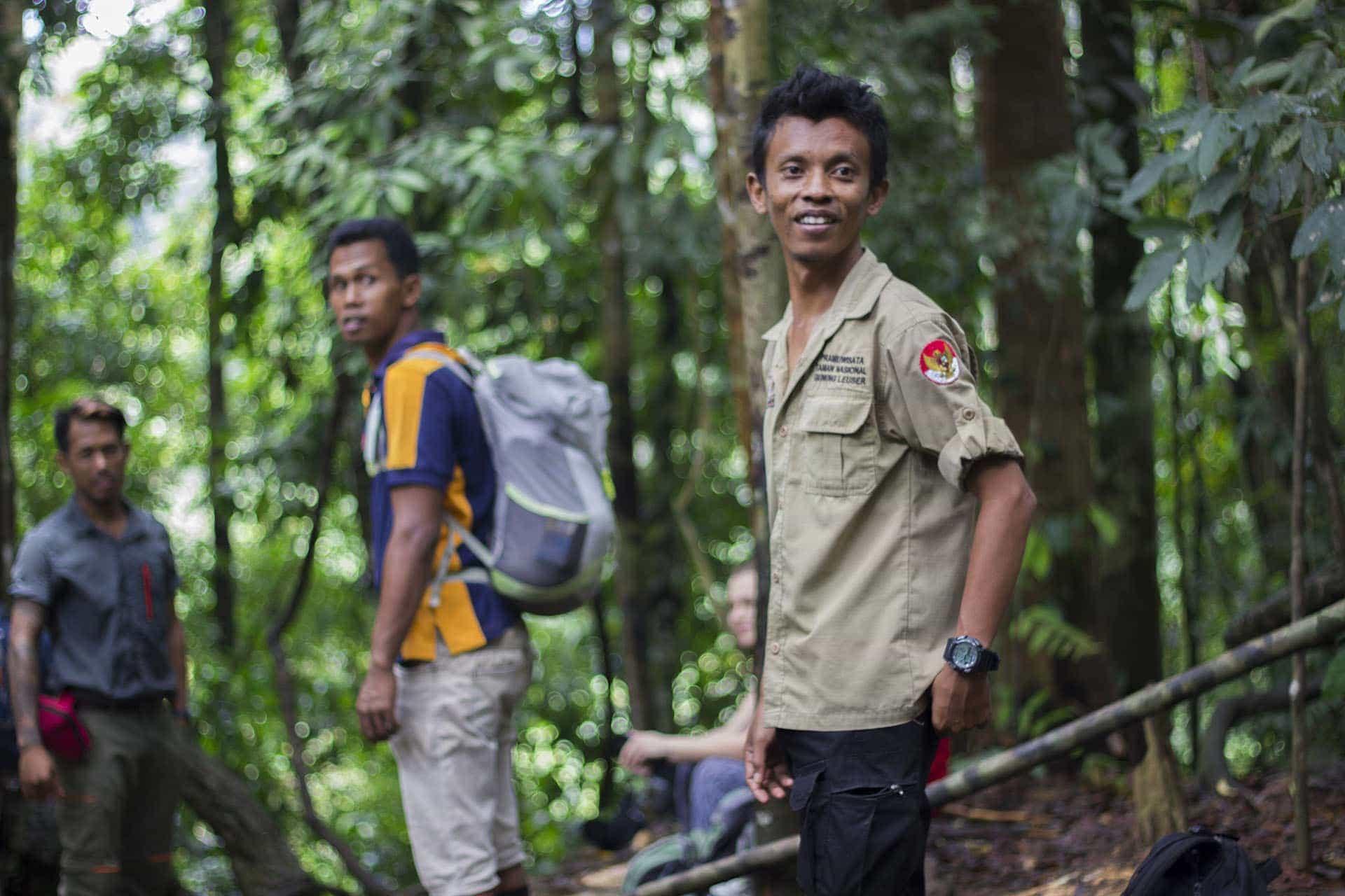 Trekking przezdżunglę naSumatrze