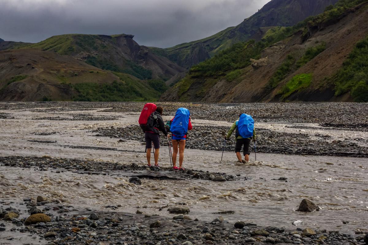 Przechodzenie przezrzekę, Islandia