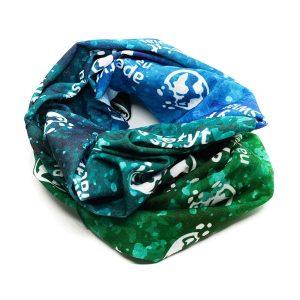 Chusta wielofunkcyjna MAZURY zielono-niebieska