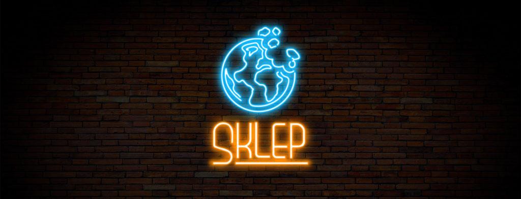 Sklep internetowy Apetyt naŚwiat - neon naceglanej ścianie