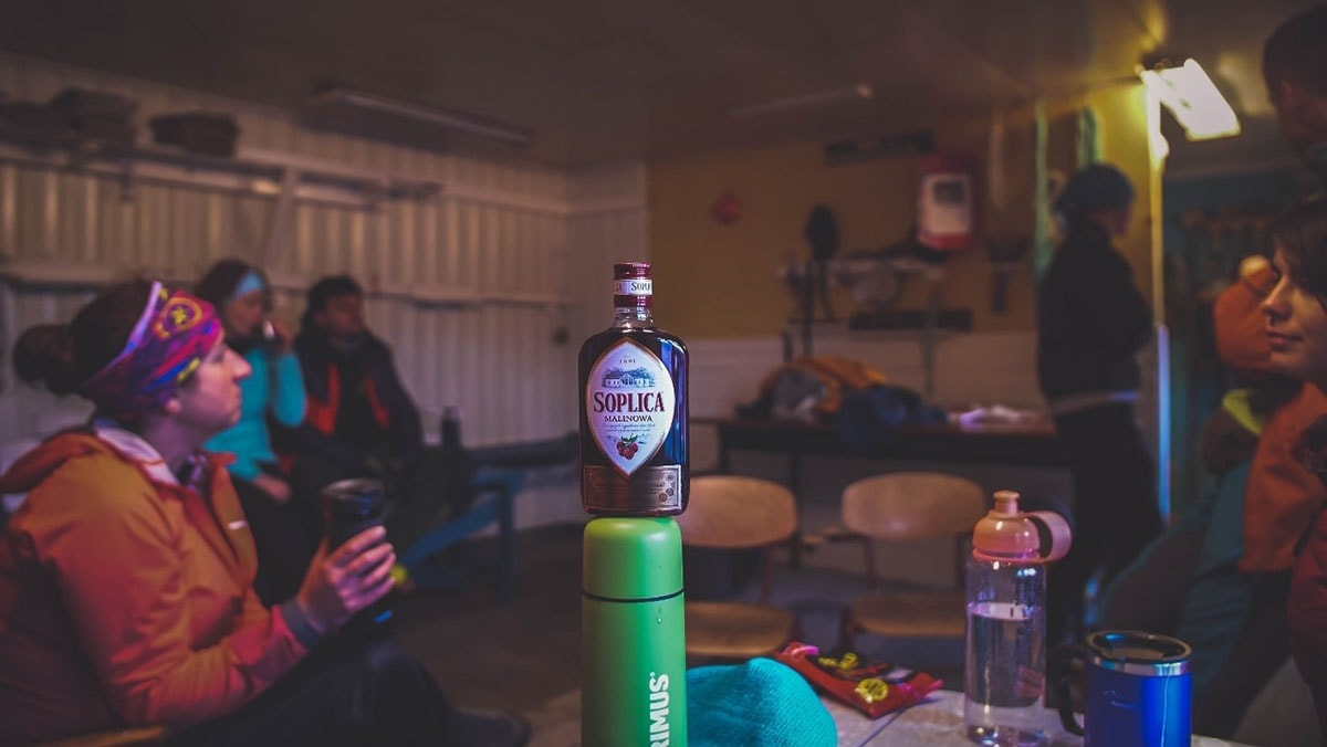 Butelka soplicy wszopie