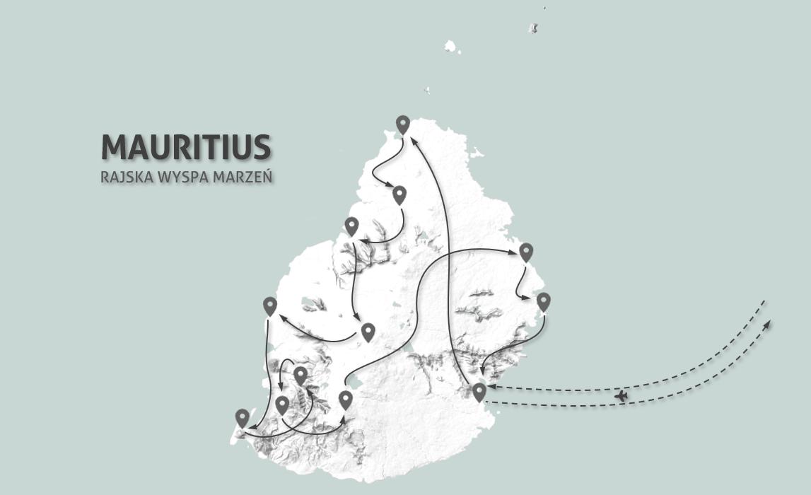Mauritius - mapa wyprawy - program 10 dni