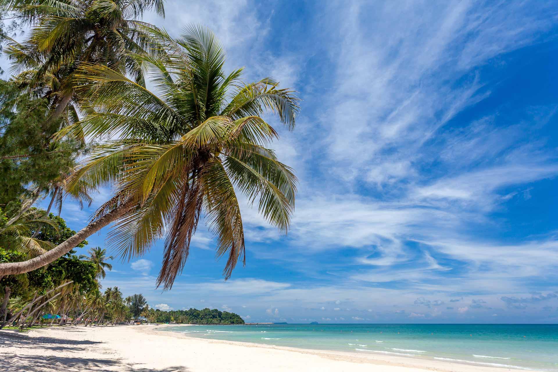 Wakacje naMauritiusie, rajska plaża, plaża zbiałym piaskiem