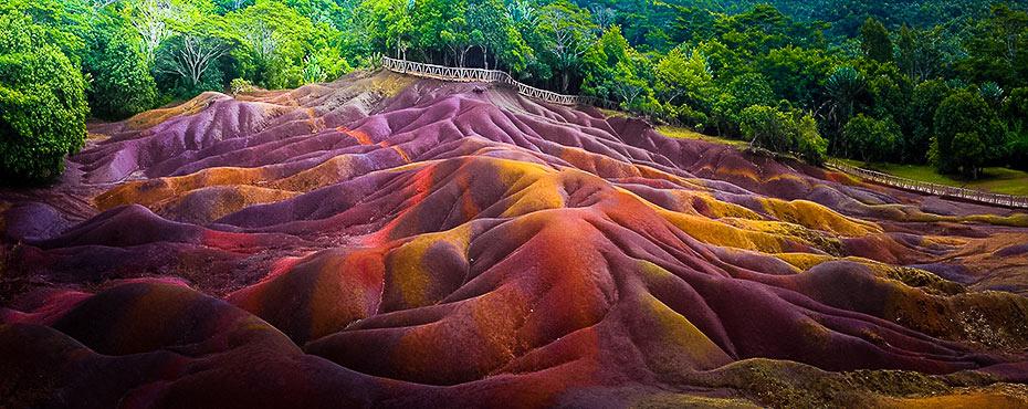 Ziemia 7 kolorów, Kolorowa Ziemia, niesamowita atrakcja naMauritiusie