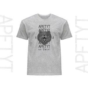 Koszulka męska bawełniana t-shirt Niedźwiedź