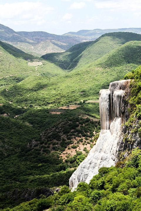 Meksyk - skalny wodospad Hierve el Agua