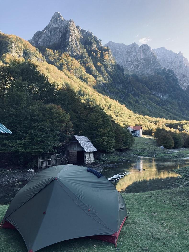 Namiot wgórach - Czarnogóra