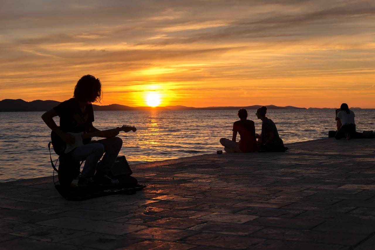 Zadar - zachód słońca
