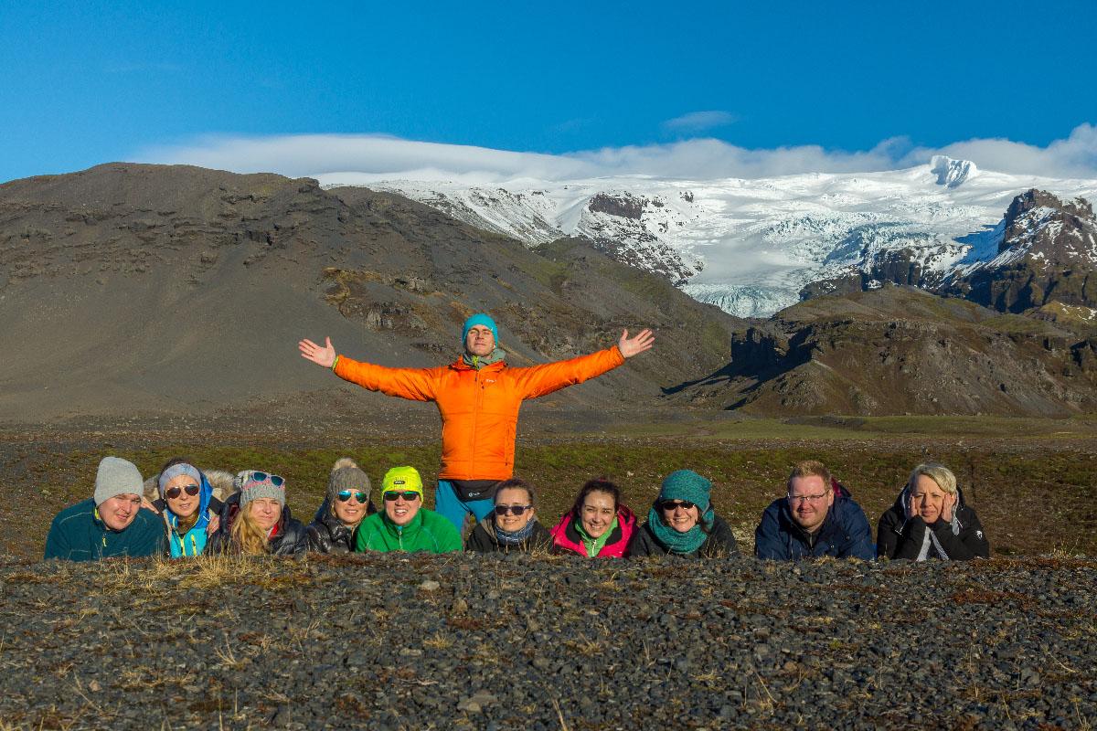 Islandia - grupa natle lodowca