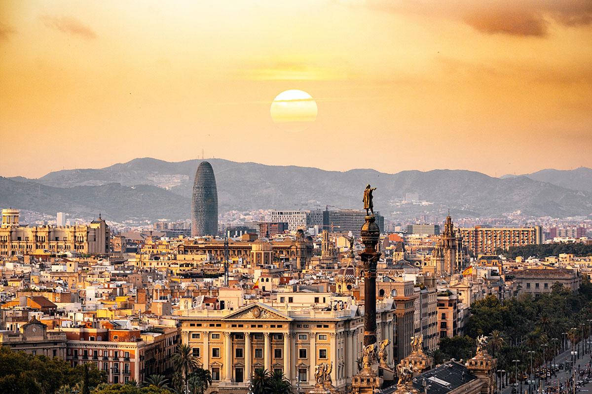 Barcelona - zachód słońca