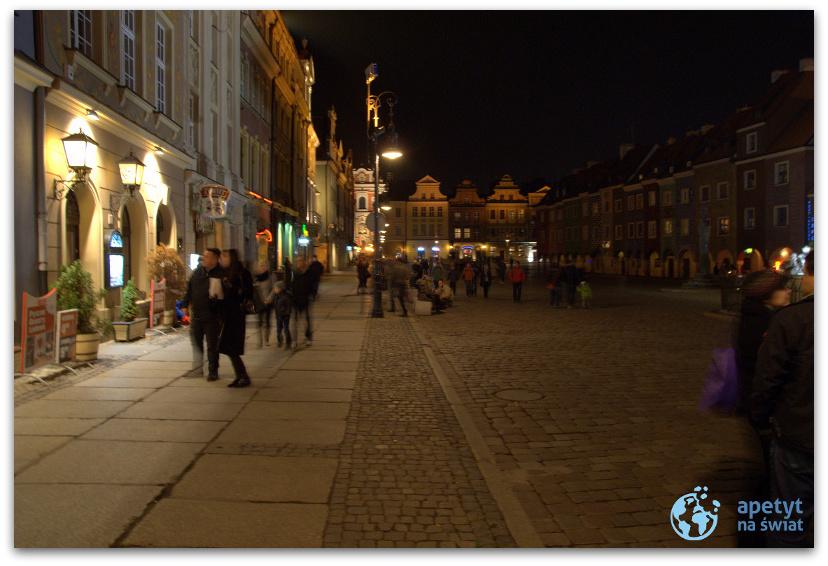 Stare Miasto wPoznaniu nocą