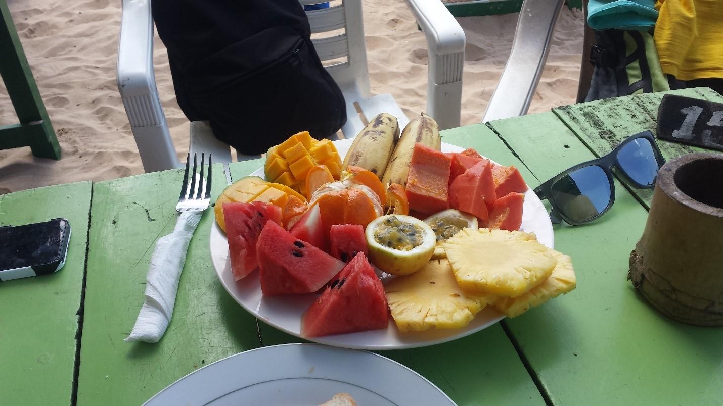 Sri Lanka, śniadanie - owoce
