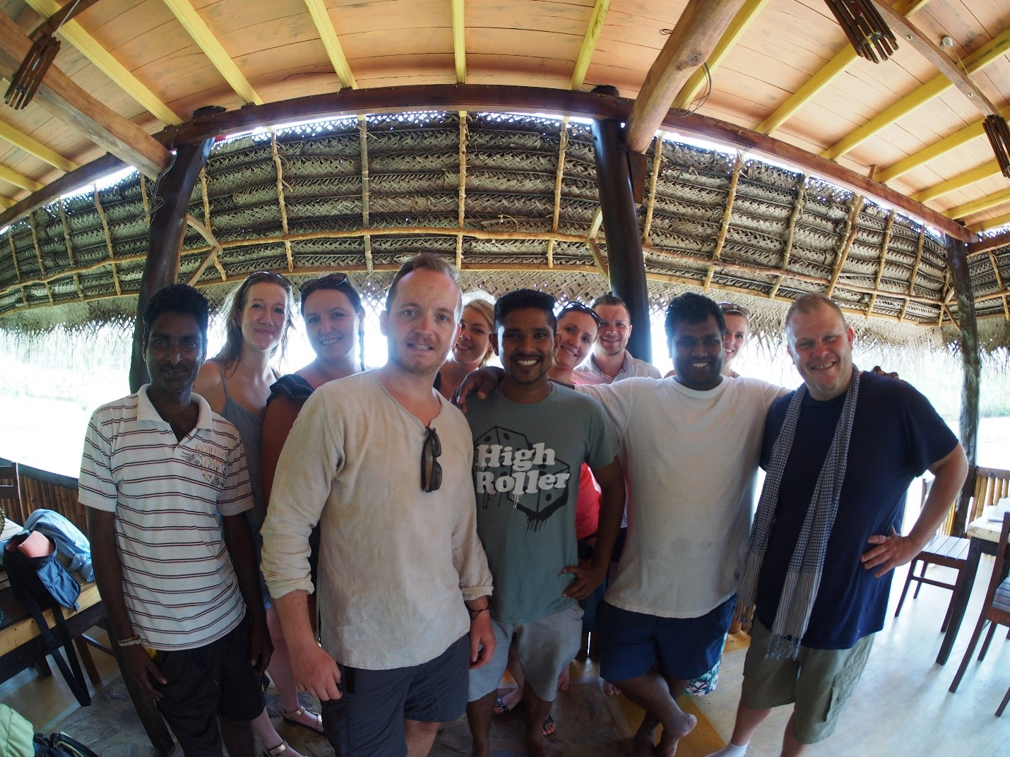 Sri Lanka, cabana w Tangalle, cała ekipa